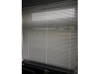 White metal venetian blinds x 4