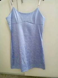 Lovely short lilac fitted dress. £6.