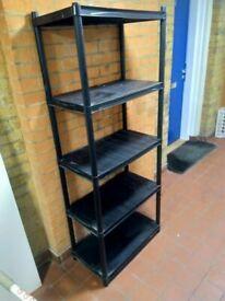 Plastic shelving unit central London bargain