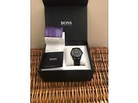 Unisex Black Hugo Boss Watch