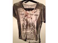 Mens Size Medium Designer Religion Printed T-Shirts **from £3**
