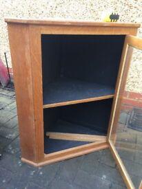 Wooden school oak corner cabinet