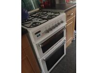 Duel fuel cooker gas hob electric fan oven