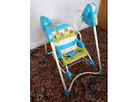 Fisher Price battery powered rocker and rocking baby seat