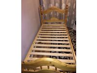 *USED LIKE NEW* Solid Wooden Pine Single Bedframe