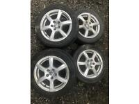 "5x100 vw polo 15"" alloy wheels"