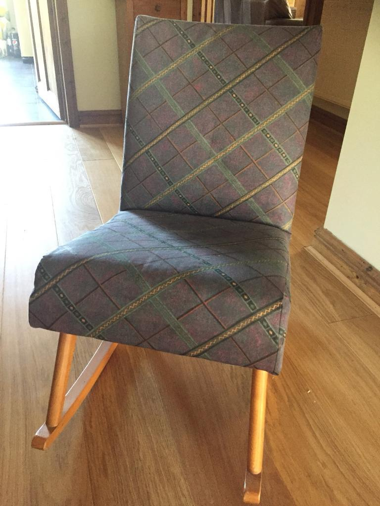 Cushioned And Upholstered Rocking Chair In Norwich