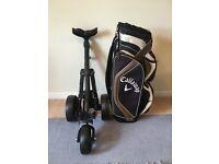 Brand New Ben Sayers 3 Wheel Trolley and Callaway Cart Bag.