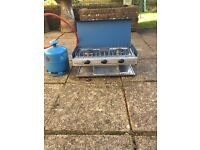 Camping stove with Gas Bottle and Grill