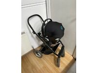 Mutsy Evo stroller with Cybex infant seat and adapters