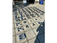 Large Stainless Steel Letters (ex Night club)