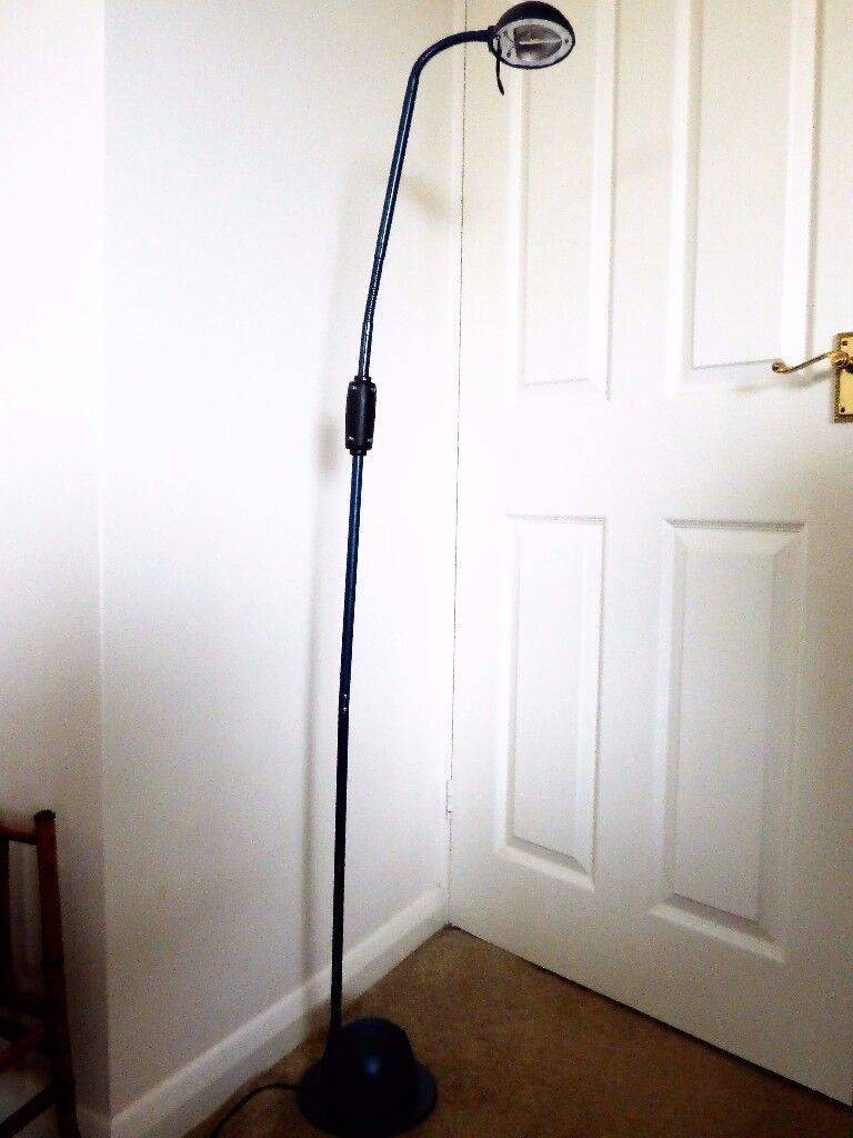 Floor standing lamp with energy efficient bulb