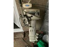 johnson sail master 9.9 long shaft outboard with throttle controls