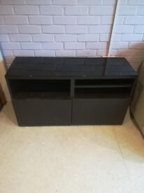 Black cabinet and matching bookcase
