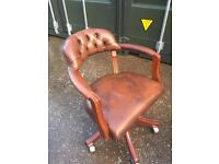 Captain , director leather chesterfield chairs