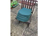Set of four small garden seat pads