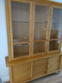 LARGE MARKS & SPENCER SOLID BEECH WOOD DISPLAY UNIT /DRESSER EXCELLENT CONDITION FREE LOCAL DELIVERY