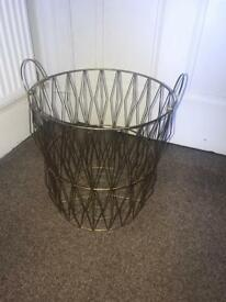 Large brass basket