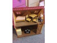 Sylvanian families.cottage, stable, post office, ice cream van, park, nursery set