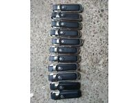 11 leather USB drives with metal cases and straps