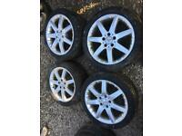 17 inch 5x112 Mercedes staggered alloy wheels