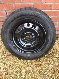 New steel wheel fitted with new Bridgetone B250 195/65/15