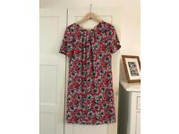 New without tags red summer floral TU chiffon dress size 8