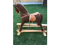 Rocking horse large free standing unique mamas and papas
