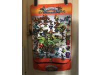 Full Skylander Set ( 4 games, wall hanging, 4 pads, character carrier and around 90 figures)