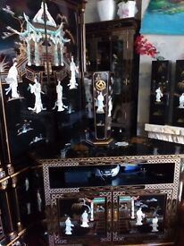 Oriental laquard mother of pearl tv cabinet forsale