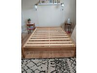 King Size Friendship Mill Studio Bed Frame * Minimalist * Pine 1 Year Old Perfect Condition RRP £259