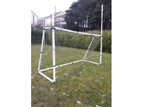 Set of Goal Posts - 6ft x 12ft. Plastic. Slightly Damaged, but fixable.