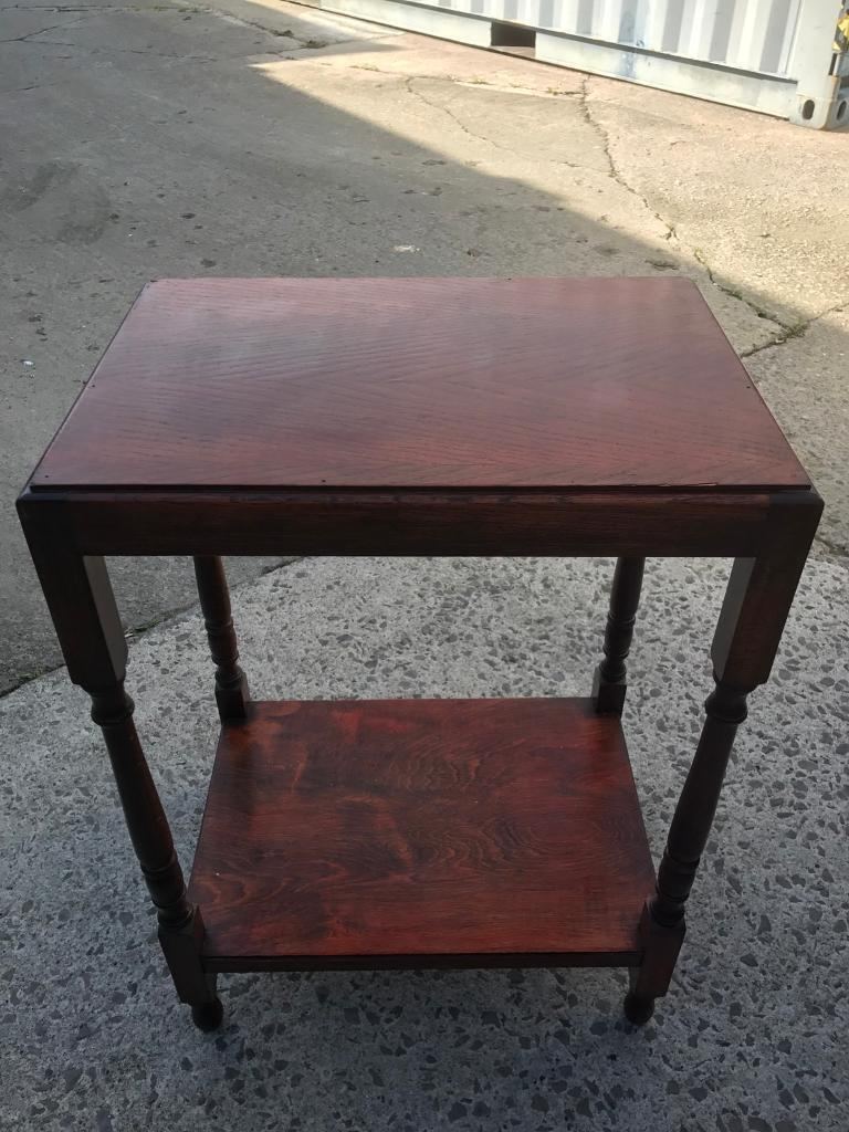 Vintage oak side table FREE DELIVERY PLYMOUTH AREA