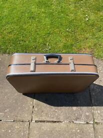 Antique vintage brown suitcase