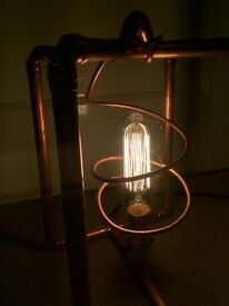Bespoke *HANDCRAFTED* copper lamp