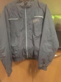 mans loyalty & faith grey zip fasten lightweight jacket size Xl