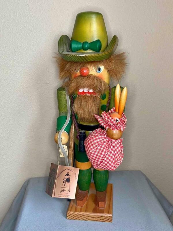 "Vintage Christian Ulbricht 14"" NUTCRACKER Rabbit Hunter, West Germany, EX!"