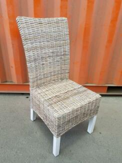 DINING CHAIR_KUBU RATTAN_WHITE WASH