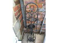 Decorative wall garden wrought iron candle holder