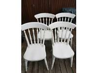 4 x wooden chairs