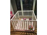 BabyDan Wooden Playpen and Playmat
