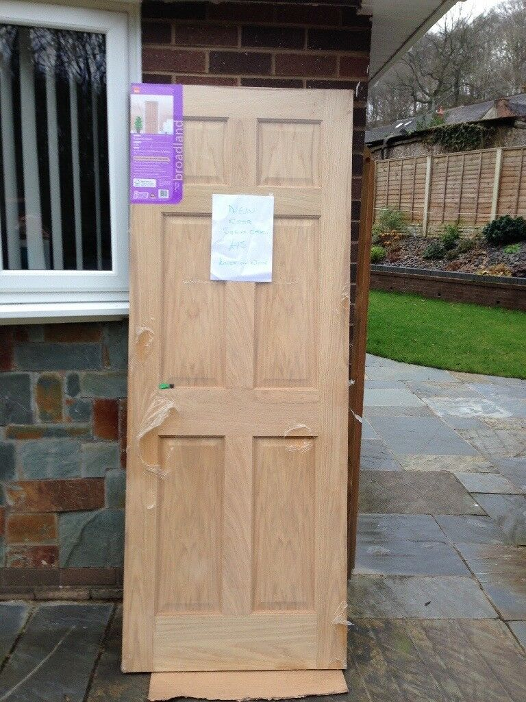 Solid oak internal door