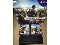 Sony Playstation 4 Slim 1TB w/ Watch Dogs 1 & 2 - Pretty Much Brand New w/ Box!! - £205