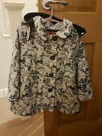 Stunning lined girls rain coat and Next Cardi age 3-4yrs