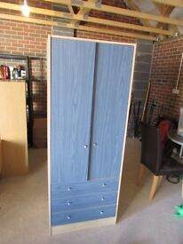 Boy's blue wardrobe