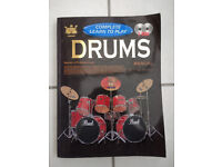 Learn to play the drums book with 2 CDs