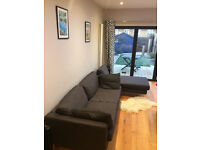 Ikea Karlstad dark grey 3 seater sofa (and optional matching chaise longue)