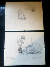 2 Winnie the pooh sketches