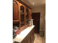 Schreiber kitchen solid wood with Stoves 5 burner and oven. Sink and taps included