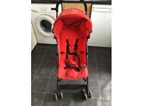 Red pushchair